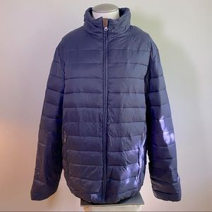 Chaps Navy Blue Puffer Jacket S